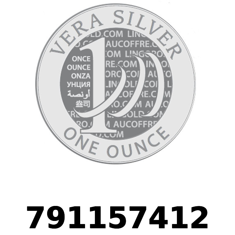 Réf. 791157412 Vera Silver 1 once (LSP - 40MM)  2018 - AVERS