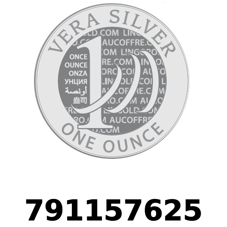 Réf. 791157625 Vera Silver 1 once (LSP - 40MM)  2018 - AVERS