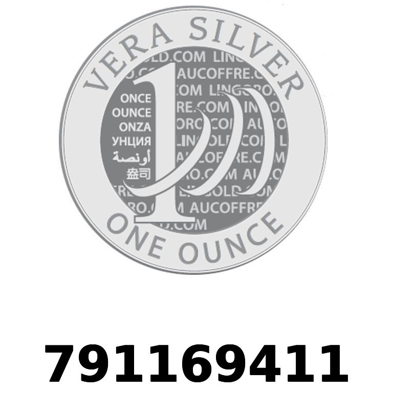 Réf. 791169411 Vera Silver 1 once (LSP - 40MM)  2018 - AVERS
