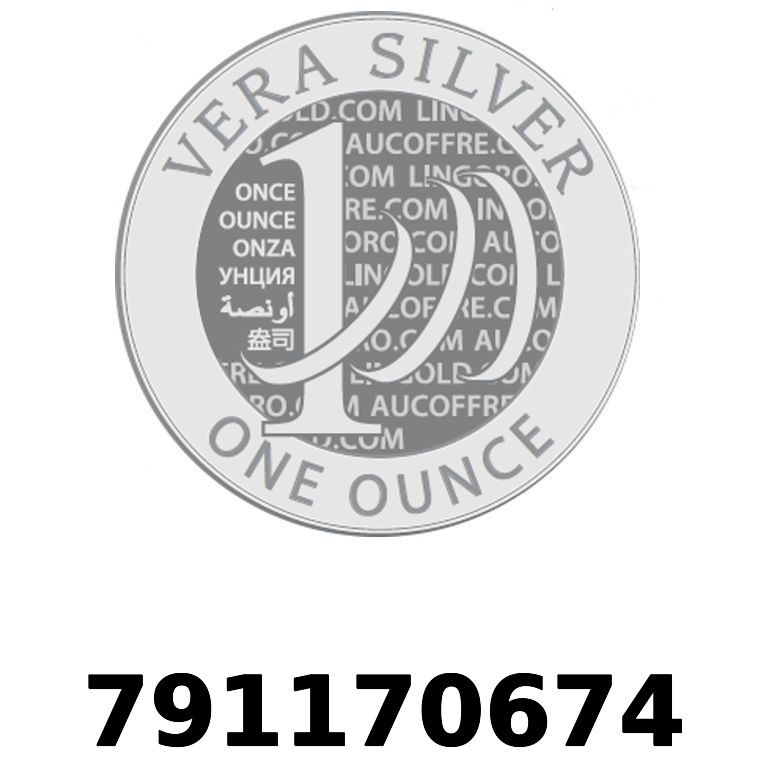 Réf. 791170674 Vera Silver 1 once (LSP - 40MM)  2018 - AVERS