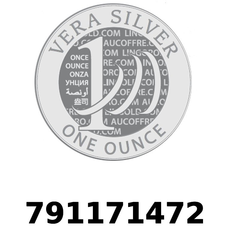 Réf. 791171472 Vera Silver 1 once (LSP - 40MM)  2018 - AVERS