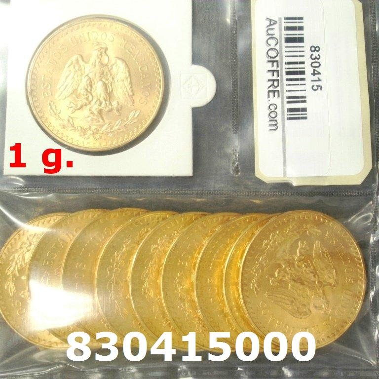 1 gramme d'or pur - 50 Pesos Mexique (LSP)