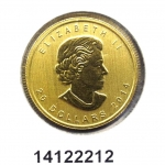 Maple Leaf 1/2 once 20 Dollars Canada Elizabeth II - 9999