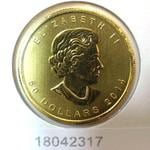 Maple Leaf 1 once 50 Dollars Canada Elizabeth II