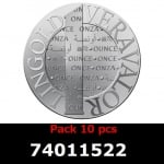 Réf. 74011522 Lot 10 Vera Silver 1 once (LSP)  2014 - REVERS