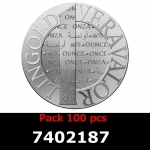 Lot 100 Vera Silver 1 once (LSP)  2014