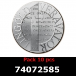 Réf. 74072585 Lot 10 Vera Silver 1 once (LSP)  2014 - REVERS