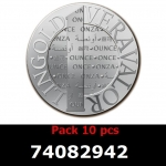 Réf. 74082942 Lot 10 Vera Silver 1 once (LSP)  2014 - REVERS