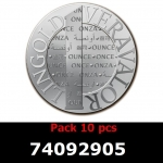 Lot 10 Vera Silver 1 once (LSP - 40MM)  2014
