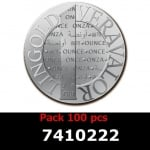 Réf. 7410222 Lot 100 Vera Silver 1 once (LSP - 40MM)  2014 - REVERS