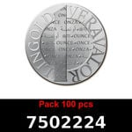 Lot 100 Vera Silver 1 once (LSP - 40MM)  2015
