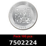 Réf. 7502224 Lot 100 Vera Silver 1 once (LSP - 40MM)  2015 - REVERS