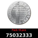 Réf. 75032333 Lot 10 Vera Silver 1 once (LSP)  2015 - REVERS
