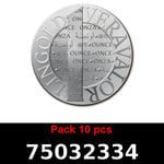 Réf. 75032334 Lot 10 Vera Silver 1 once (LSP)  2015 - REVERS