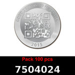 Réf. 7504024 Lot 100 Vera Silver 1 once (LSP - 40MM)  2015 - REVERS