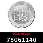 Réf. 75061140 Lot 10 Vera Silver 1 once (LSP)  2015 - REVERS