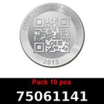 Réf. 75061141 Lot 10 Vera Silver 1 once (LSP)  2015 - REVERS