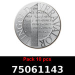 Réf. 75061143 Lot 10 Vera Silver 1 once (LSP)  2015 - REVERS