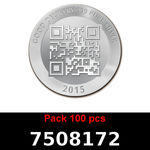 Réf. 7508172 Lot 100 Vera Silver 1 once (LSP - 40MM)  2015 - REVERS