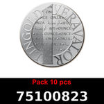Réf. 75100823 Lot 10 Vera Silver 1 once (LSP)  2015 - REVERS