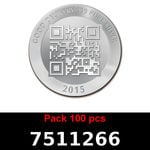 Réf. 7511266 Lot 100 Vera Silver 1 once (LSP - 40MM)  2015 - REVERS