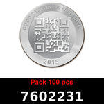 Réf. 7602231 Lot 100 Vera Silver 1 once (LSP - 40MM)  2015 - REVERS