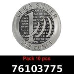 Réf. 76103775 Lot 10 Vera Silver 1 once (LSP)  2015 - 2eme type - REVERS