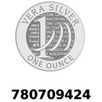 Réf. 780709424 Vera Silver 1 once (LSP)  2018 - REVERS