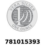 Réf. 781015393 Vera Silver 1 once (LSP)  2018 - REVERS
