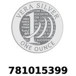 Réf. 781015399 Vera Silver 1 once (LSP)  2018 - REVERS