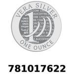 Réf. 781017622 Vera Silver 1 once (LSP)  2018 - REVERS