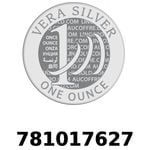 Réf. 781017627 Vera Silver 1 once (LSP)  2018 - REVERS
