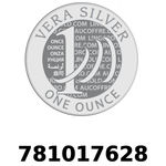 Réf. 781017628 Vera Silver 1 once (LSP)  2018 - REVERS
