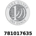 Réf. 781017635 Vera Silver 1 once (LSP)  2018 - REVERS
