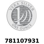 Réf. 781107931 Vera Silver 1 once (LSP)  2018 - REVERS