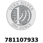 Réf. 781107933 Vera Silver 1 once (LSP)  2018 - REVERS
