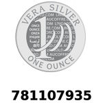Réf. 781107935 Vera Silver 1 once (LSP)  2018 - REVERS