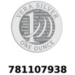 Réf. 781107938 Vera Silver 1 once (LSP)  2018 - REVERS