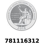 Réf. 781116312 Vera Silver 1 once (LSP)  2018 - REVERS