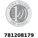 Réf. 781208179 Vera Silver 1 once (LSP)  2018 - REVERS