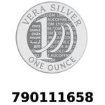 Réf. 790111658 Vera Silver 1 once (LSP)  2018 - REVERS