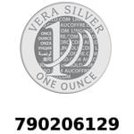 Réf. 790206129 Vera Silver 1 once (LSP)  2018 - REVERS