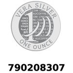 Réf. 790208307 Vera Silver 1 once (LSP)  2018 - REVERS