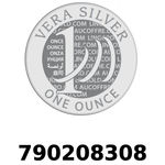 Réf. 790208308 Vera Silver 1 once (LSP)  2018 - REVERS
