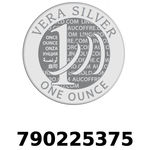 Réf. 790225375 Vera Silver 1 once (LSP)  2018 - REVERS
