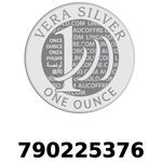 Réf. 790225376 Vera Silver 1 once (LSP)  2018 - REVERS