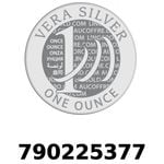 Réf. 790225377 Vera Silver 1 once (LSP)  2018 - REVERS