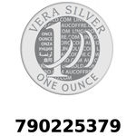 Réf. 790225379 Vera Silver 1 once (LSP)  2018 - REVERS