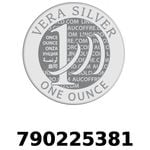 Réf. 790225381 Vera Silver 1 once (LSP)  2018 - REVERS