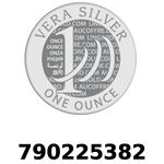 Réf. 790225382 Vera Silver 1 once (LSP)  2018 - REVERS